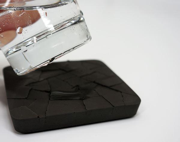 Imagen de Posavasos de concreto absorbentes