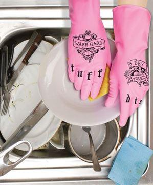 """Imagen de Guantes y Esponja """"Tuff Dish"""""""
