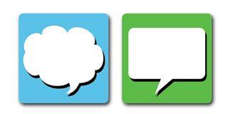 "Imagen de Posavasos ""Bubble Text"" Azul/Verde"