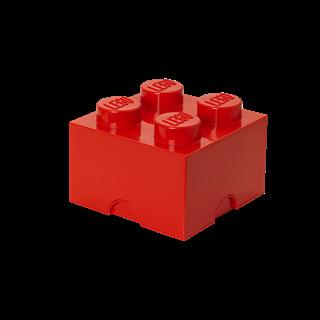 Imagen de Lego Storage Brick 4 Rojo