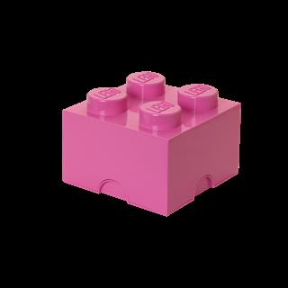 Imagen de Lego Storage Brick 4 Rosado