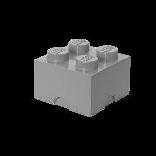 Imagen de Lego Storage Brick 4 Gris