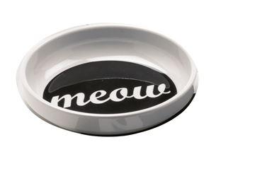 """Imagen de Bowl Gato """"Meow"""" (Blanco y Negro)"""