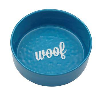"""Imagen de Bowl Perro """"Woof"""" Azul"""