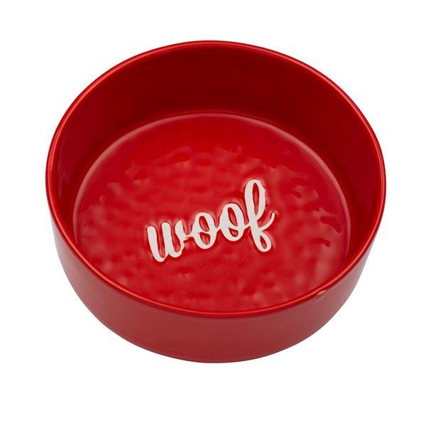 """Imagen de Bowl Perro """"Woof"""" Rojo"""