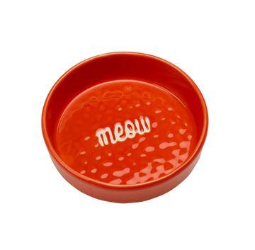 "Imagen de Bowl Gato ""Meow"" Rojo"
