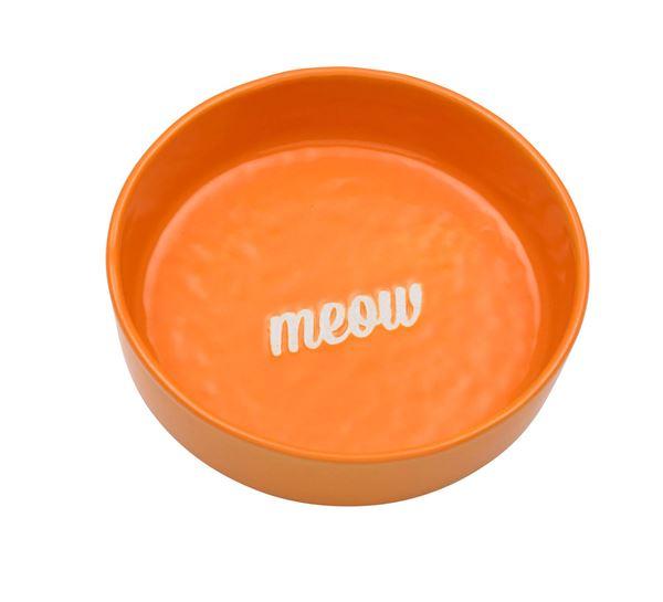 "Imagen de Bowl Gato ""Meow"" Naranja"