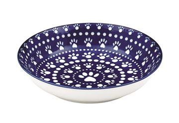 """Imagen de Bowl Perro """"Bandana"""" Azul (Ancho)"""