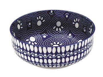 """Imagen de Bowl Perro """"Bandana"""" Azul (Alto)"""
