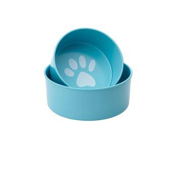 """Imagen de Set Bowls para perro """"Pop!"""" (Celeste)"""