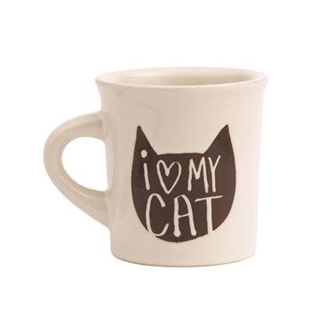 "Imagen de Taza ""I Love my Cat"""