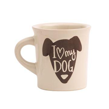 "Imagen de Taza ""I Love my Dog"""