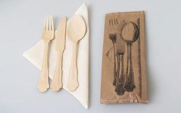 Imagen de Set Cuchillo + Tenedor + Cuchara + Servilleta